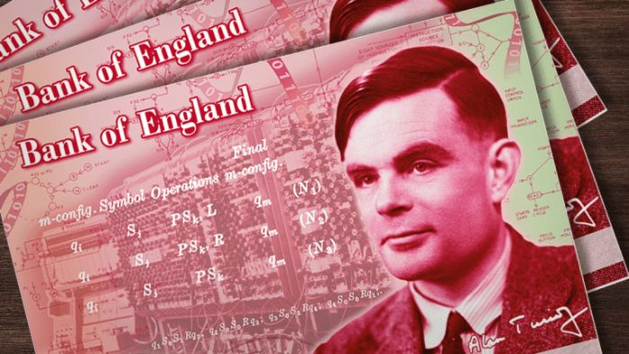 alan turing gay matemático 50 pounds